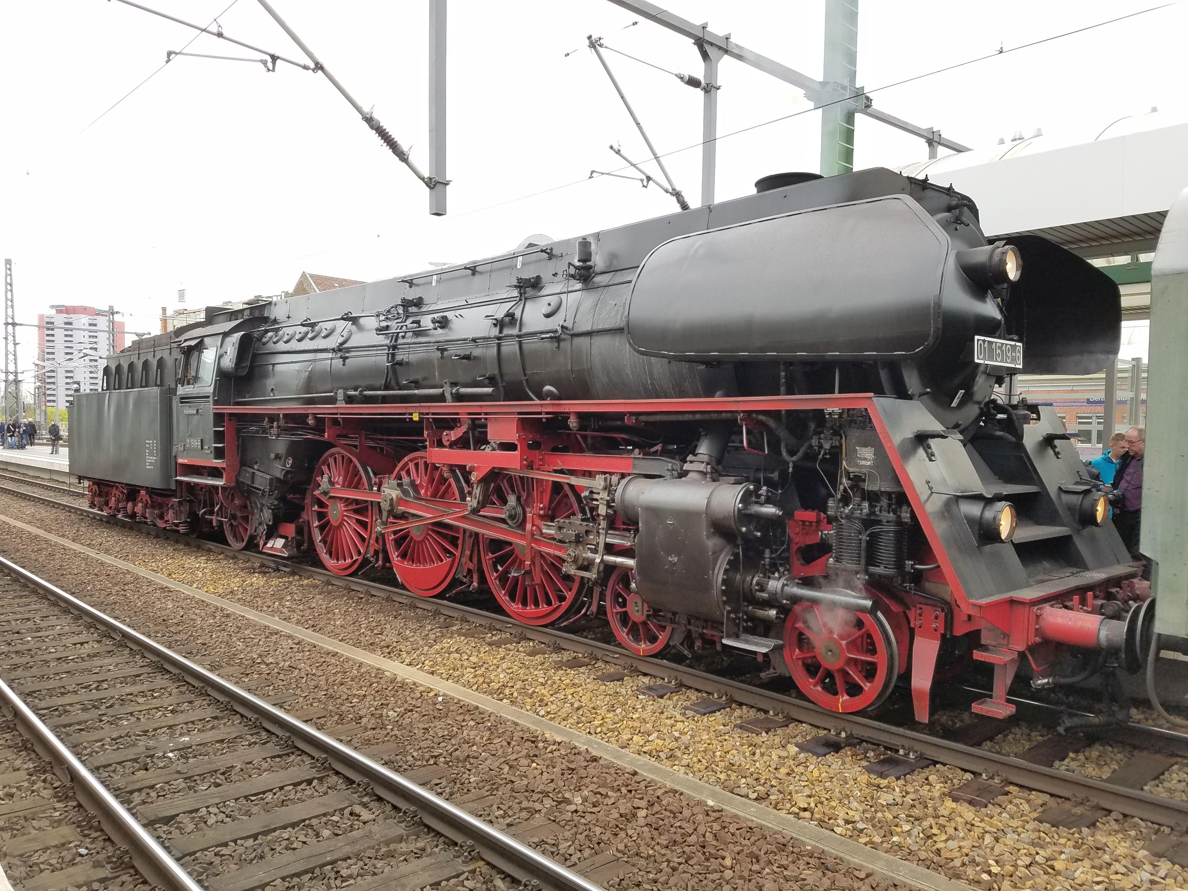 Dampflok 01 1519 Berlin Ostbahnhof 2017