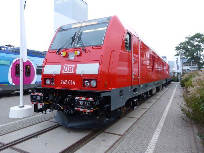 Lok 245 014 auf der Berliner Innotrans, 2014