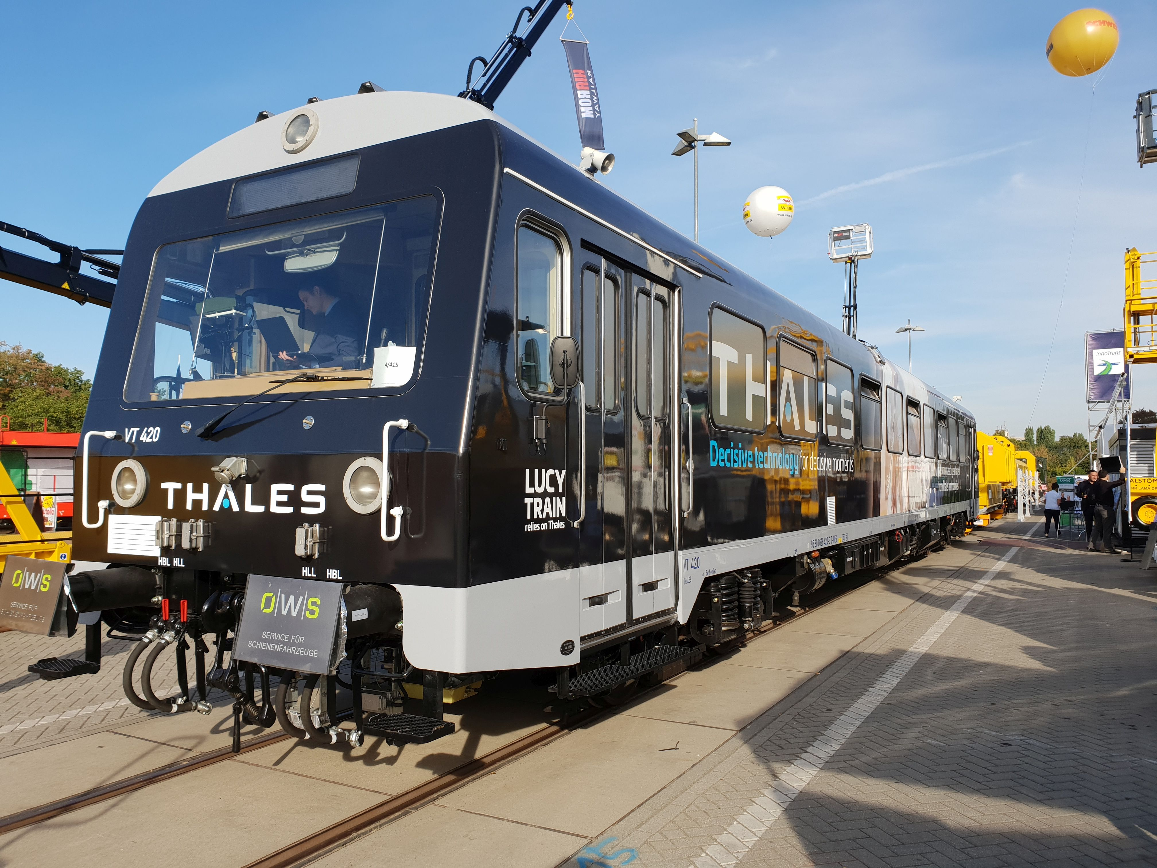 """Foto: 626 420 """"Lucy Train"""" von Thales auf der Berliner Innotrans 2018"""