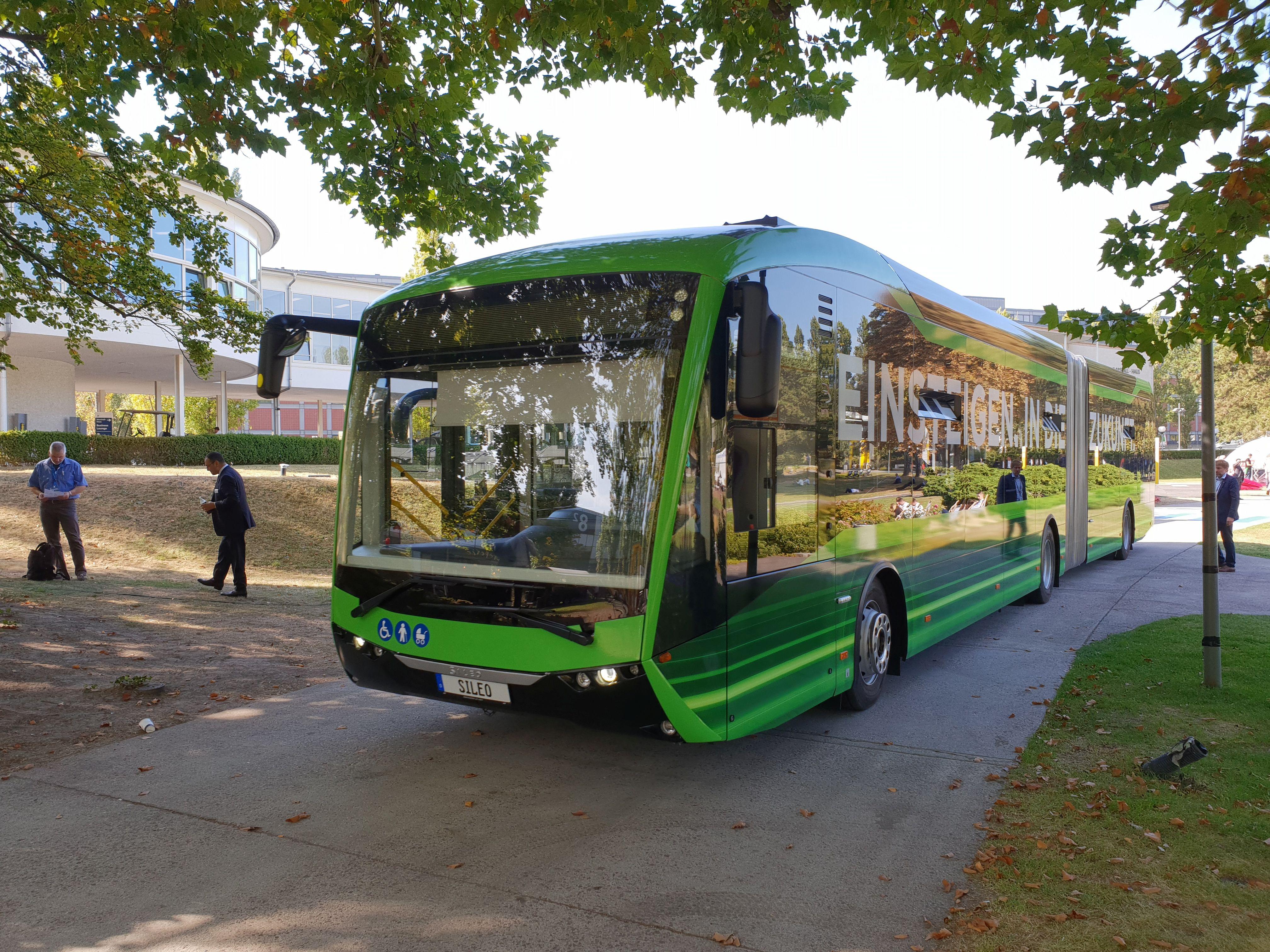 Foto: Elektrobus von Sileo auf der Berliner Innotrans 2018